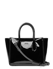 Leather Mini Sloane Satchel - BLACK
