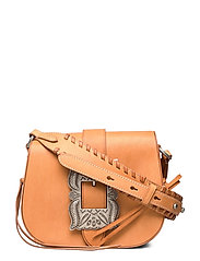 Leather-Inlay Small Crossbody - NATURAL