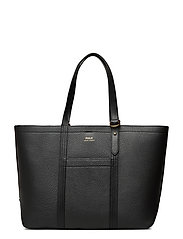 Pebbled Leather Medium Tote - BLACK