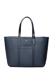Pebbled Leather Medium Tote - DENIM
