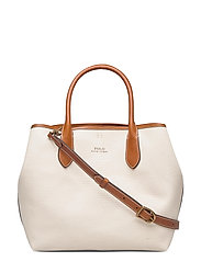 POLO CANVAS-MD OPEN TOTE-TTE-MED - NATURAL