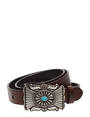 Concho-Plaque-Buckle Belt - CUOIO