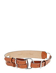 Tri-Strap Leather Belt - CARAMEL