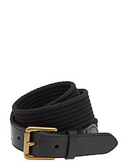 WEBBING/LEATHER-RIBBED WEB-CSL-MED - BLACK