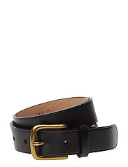 LEATHER-DRESS BELT-DRS-SNY - BLACK