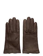 Stitched Sheepskin Gloves - COUNTRY BROWN