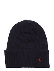 WOOL/CASH-WL CSH CABLE CUF HAT - HUNTER NAVY