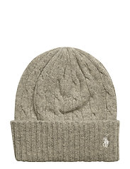 WOOL/CASH-WL CSH CABLE CUF HAT - LIGHT VINTAGE HEA