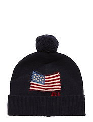 Flag Wool Pom-Pom Hat - NAVY
