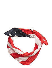SILK-AMERICAN FLAG SILK B - NAVY AMERICANA