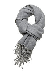 Wool-Blend Oversize Scarf - CREAM/FAWN GREY