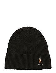VISCOSE BLEND-CARD HAT-HAT - POLO BLACK