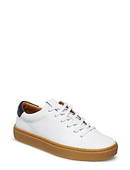 LEATHER-PKD COURT125-SK-ATH - WHITE/BLUE