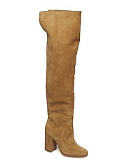 Emmalyn Thigh-High Boot - BISQUE