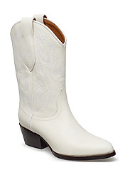 FULL GRAIN LEATHER-DAYNA-BO-CSL - WHITE