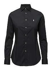 Stretch Slim Poplin Shirt - POLO BLACK