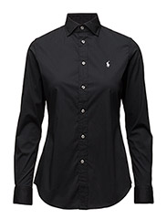 Stretch Slim Poplin Shirt - POLO BLACK