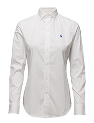 Stretch Slim Poplin Shirt - WHITE