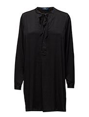 INIGO LS CASUAL DRESS - POLO BLACK