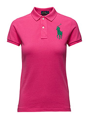 Skinny-Fit Big Pony Polo Shirt - ACTIVE PINK