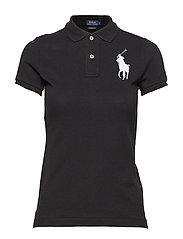 Skinny-Fit Big Pony Polo Shirt - POLO BLACK