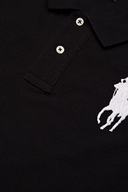 Polo Ralph Lauren - Skinny-Fit Big Pony Polo Shirt - polo shirts - polo black - 2