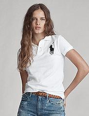 Polo Ralph Lauren - Skinny-Fit Big Pony Polo Shirt - polo shirts - white/navy pp - 5