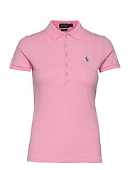 Slim Fit Polo Shirt - CARMEL PINK
