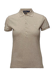 Skinny Fit Stretch Mesh Polo - EXPEDITION DUNE H