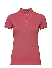 Skinny Fit Stretch Mesh Polo - NANTUCKET RED