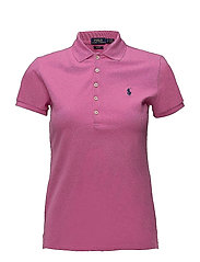 Skinny Fit Stretch Mesh Polo - PINK PEONY