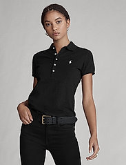 Polo Ralph Lauren - Slim Fit Polo Shirt - pikeepaidat - polo black/white - 5