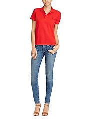 Polo Ralph Lauren - Slim Fit Polo Shirt - polo shirts - rl2000 red/navy p - 4