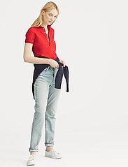 Polo Ralph Lauren - Slim Fit Polo Shirt - polo shirts - rl2000 red/navy p - 5