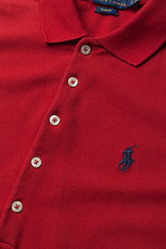 Polo Ralph Lauren - Slim Fit Polo Shirt - polo shirts - rl2000 red/navy p - 6