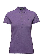 Skinny Fit Stretch Mesh Polo - SPRING VIOLET
