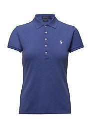 Skinny Fit Stretch Mesh Polo - SUMMER ROYAL