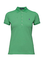 Skinny Fit Stretch Mesh Polo - VINEYARD GREEN