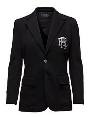 Knit Cotton Blazer - POLO BLACK