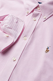 Polo Ralph Lauren - Knit Cotton Oxford Shirt - long-sleeved shirts - carmel pink - 2