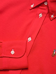 Polo Ralph Lauren - Knit Cotton Oxford Shirt - langærmede skjorter - bright hibiscus - 3