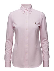 Knit Cotton Oxford Shirt - CARMEL PINK