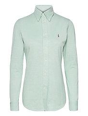Knit Cotton Oxford Shirt - CELEDON