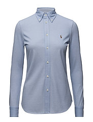 Knit Cotton Oxford Shirt - HARBOR ISLAND BLUE
