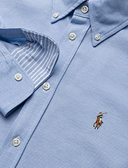 Polo Ralph Lauren - Knit Cotton Oxford Shirt - langærmede skjorter - harbor island blue - 3