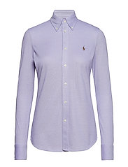 Knit Cotton Oxford Shirt - HYACINTH