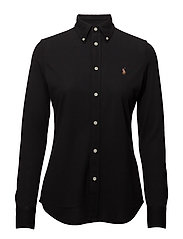 Knit Cotton Oxford Shirt - POLO BLACK