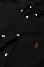 Polo Ralph Lauren - Knit Cotton Oxford Shirt - langærmede skjorter - polo black - 3