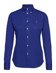 Knit Cotton Oxford Shirt - SPORTING ROYAL