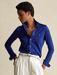 Polo Ralph Lauren - Knit Cotton Oxford Shirt - langærmede skjorter - sporting royal - 0
